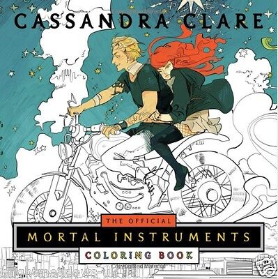 Official Mortal Instruments Cassandra Clare Adult Colouring Book Fantasy Shadow