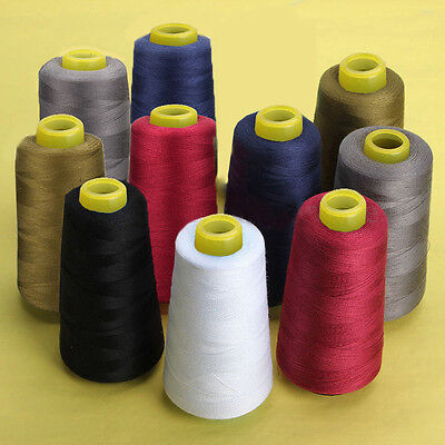 3000 Yards Industrial Overlocking Sewing Machine Polyester Color Thread 6 Colors