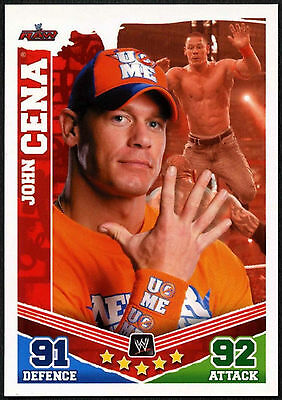John Cena 2010 WWE Slam Attax Mayhem Wrestling TCG Card (C379)