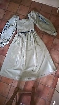 Girl's Tudor-style dress with head-dress, excellent condition