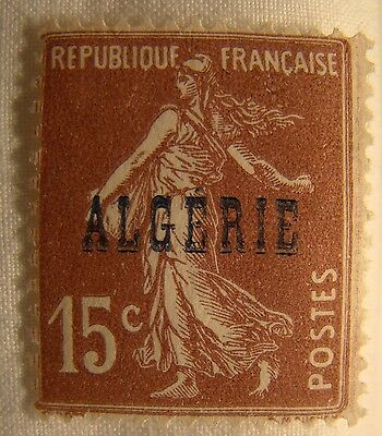 Algeria Stamp 1924 Scott 11 A22a  Unused Overprint