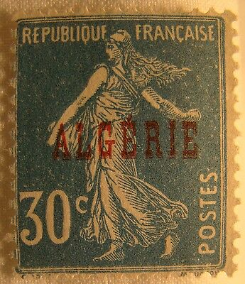Algeria Stamp 1924 Scott 16 A22a  Unused Overprint