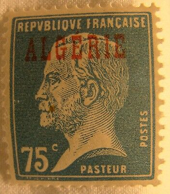 Algeria Stamp 1924 Scott 25 A23a  Unused Overprint