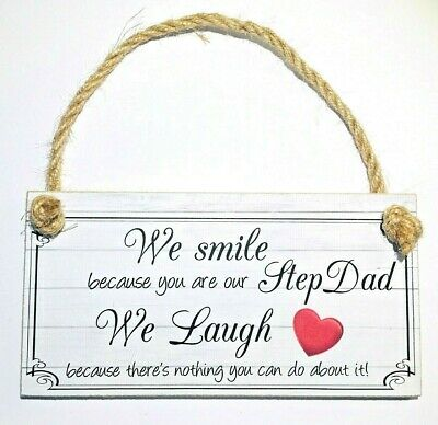 Personalised Any Text Father's Day Gift Plaque Dad Step Stepdad Grandpa Grandad