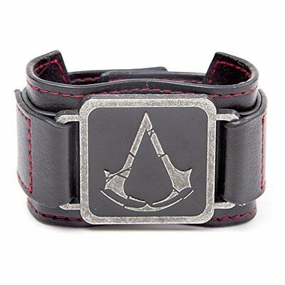 ASSASSIN`S CREED-ASSASSIN`S CREED Rogue Leather Effect Bracelet with Inte AC NEW
