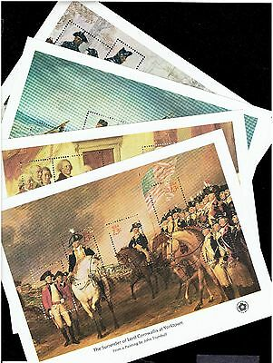 USA STAMP #1686-89 1976 Bicentennial S/S 4 sheets COMPLETE + ENV, FRESH !!!