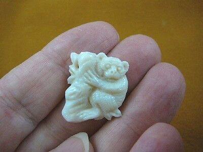 (O-220) little Koala bear 12 carat White Coober Pedy opal carved I love koalas