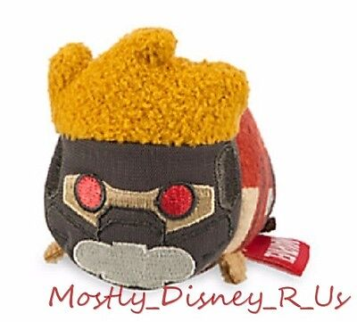 "NEW Disney Store Guardians of the Galaxy Star-Lord Tsum Tsum Mini Plush 3.5"" Toy"