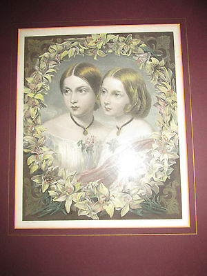 'The Royal Sisters', Original Hand-Coloured Engraving by D.Devachez c1855-1860