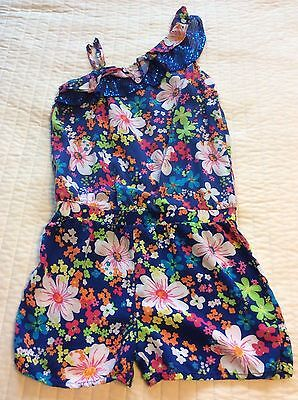 Justice Girls Romper Outfit One Piece Shorts Size 10 Sequin Ruffle Summer Blue
