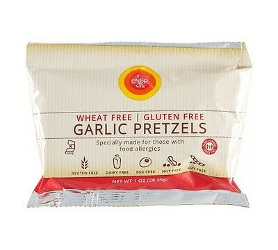 Ener-G Foods Garlic Pretzels - Wheat-free, Gluten-free - 1 oz (Pack of 50)