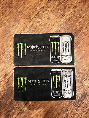 2x Monster Energy Bar Runners Pub Shed Bar Man Cave