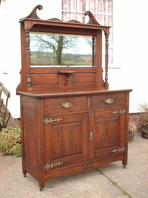 Antique Mirror Back Sideboard