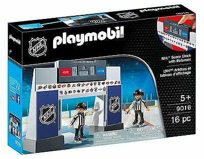 Playmobil - Sports & Action NHL - 9016 -  Score-Clock with 2 Referees - NEU OVP