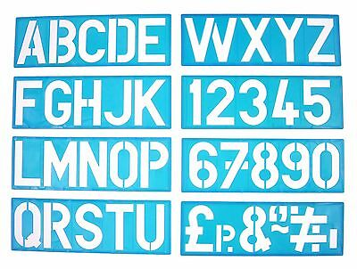 100mm a z captial letters 0 9 plastic stencil template poster sign lettering