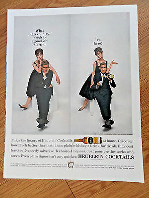 1961 Heublein Cocktails Ad Orson Bean Noted Comedian