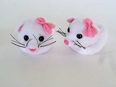 """White Kitten Slippers Fits Wellie Wishers 14.5"""" American Girl Clothes Shoes"""