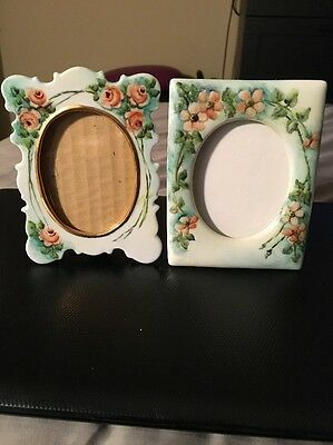 2 Beautiful, Vintage Hand Painted And Signed Porcelain Frames From 1988