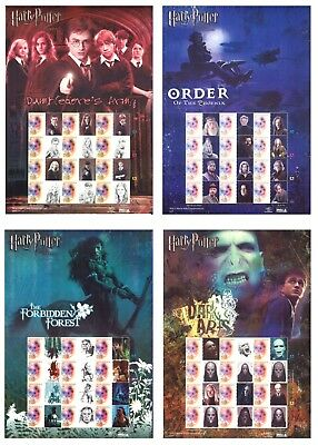 2007 Indonesia - Harry Potter - 4 Different Stamp Sheetlets - 48 Stamps