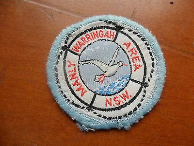 Vintage Manly Warringah Area NSW Scout Cloth Badge