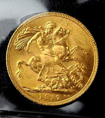 1917C Canadian Gold Sovereign ICCS MS-64 - A Gem