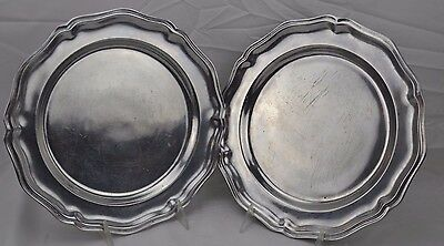 Wilton Armetale RWP Queen Anne Shiny Set of 2 Dinner Plates #3