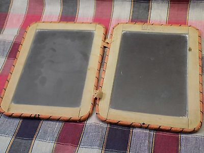 Antique Primitive Double Chalkboard Bound School House Slate Made in the USA VGC