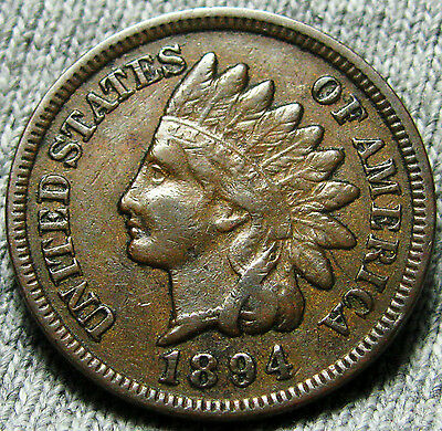 1894 Indian Head Cent Penny --- NICE --- #W094