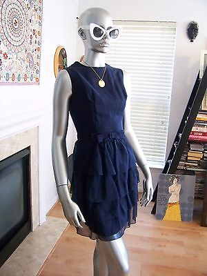 Vtg Rare 50's SCREEN SIREN Cocktail RUFFLE Wiggle ORIGAMI Dress WoW!