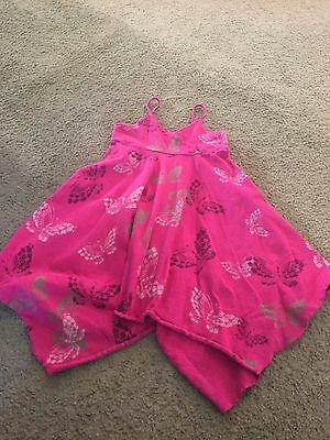 Nice girls size 5 Years Baby Gap pink butterfly print summer dress outfit