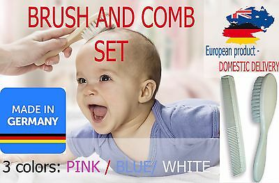 BRUSH AND COMB SET Child Kid MADE IN GERMANY Grooming Soft Hair SAFETY Quality