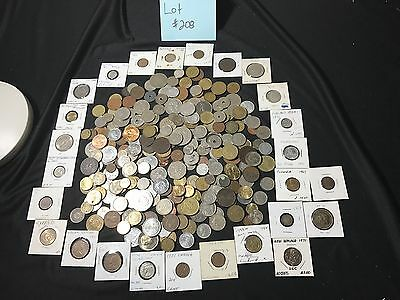 Huge Unsearched Lot of Inherited World Foreign coins 3+pounds! LOT #208