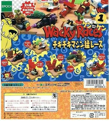 Wacky Races Vol.1 Epoch Diorama 6 Figures capsule toy Full Set Rare F/S JAPAN