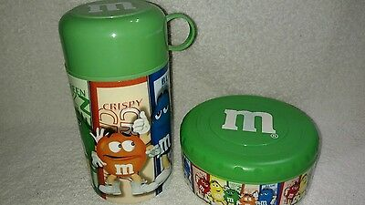 M&M's Green Thermos & Bowl Set