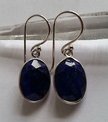 001 Sapphire Gemstone Earring Solid 925 Sterling Silver rrp$59.95