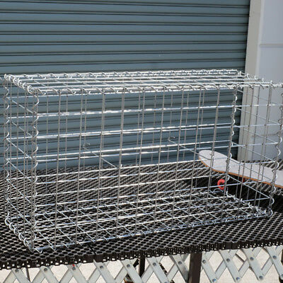Welded Gabion 978mm L x 300mm W x 528mm H, 75x75mm, AL-TEN Garden Bench, Edge