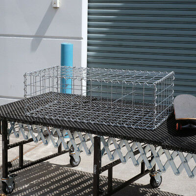 Welded Gabion 978mm L x 528mm W x 300mm H, 75x75mm, AL-TEN Garden Bench, Edge