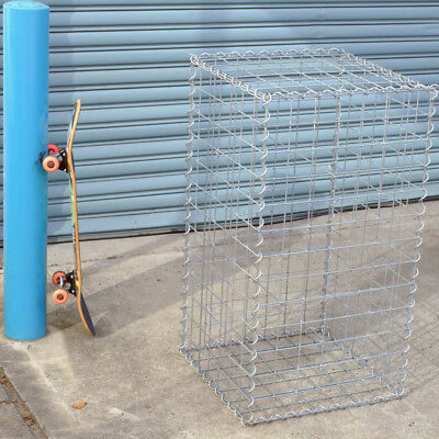 Welded Gabion 528mm L x 528mm W x 978mm H, 75x75mm, AL-TEN Garden Bench, Edge
