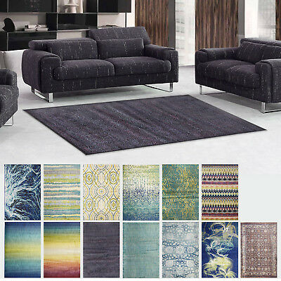 New Modern Rug Floor Soft Blend Design Detailed Patterns Dense Pile Carpet Mat