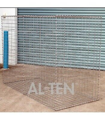 Welded Gabion 2028mm L x 978mm W x 1500mm H, 75x75mm, AL-TEN