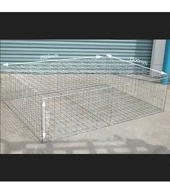 Welded Gabion 2028mm L x 1500mm W x 528mm H, 75x75mm, AL-TEN
