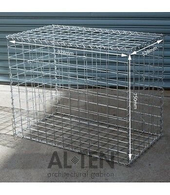Welded Gabion 978mm L x 528mm W x 750mm H, 75x75mm, AL-TEN
