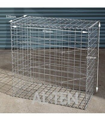 Welded Gabion 528mm L x 978mm W x 978mm H, 75x75mm, AL-TEN