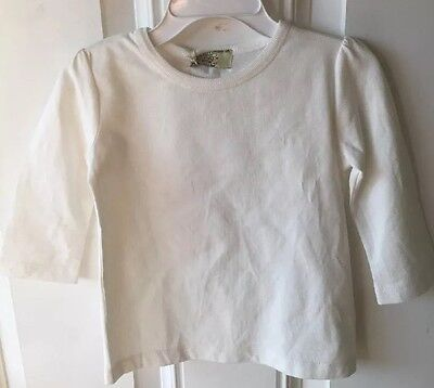 NWT Sage Creek Organics Girls Organic Cotton 3/4 Sleeve Tee White 2T