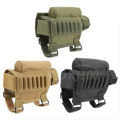 Portable Rifle  Buttstock Cheek Rest W/ Ammo Carrier Case Pouch for .300 .308 WD