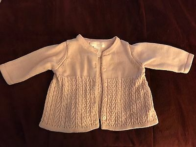 janie and jack 0-3 Month Girl Pink Button Up Sweater