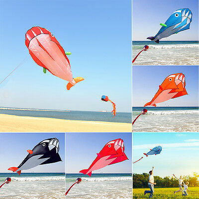 New Huge 3D 1.2*2.1m Single Line Dolphin Sport Flying Kite Outdoor Activity Toys