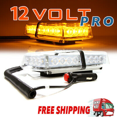 24 LED Car Emergency Beacon Light Bar Strobe Warning Lamp Amber 12V