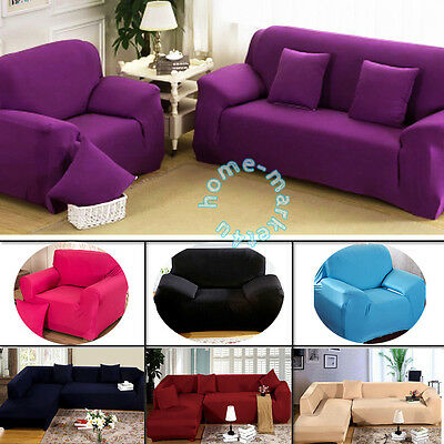 1-4 Seat Sofa Funda Couch Elastic Cover Corner Stretch Slipcover Easy Instal Fit