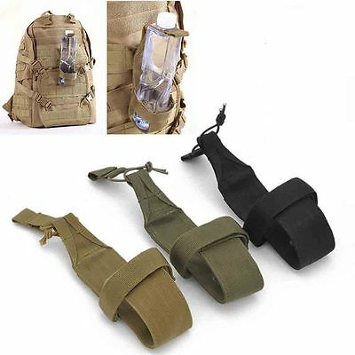 Outdoor Nylon Tactical Hiking Molle Water Bottle Holder Belt Carrier Pouch Bags